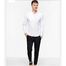 high quality men shirt fashion groom wedding shirt custom made white sunshine handsome leisure shirt long