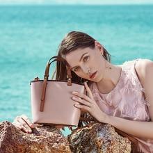 MZORANGE 2019 Summer New Small Womens Bag Female Fashion Genuine Leather  Handbag Bucket Shoulder Messenger