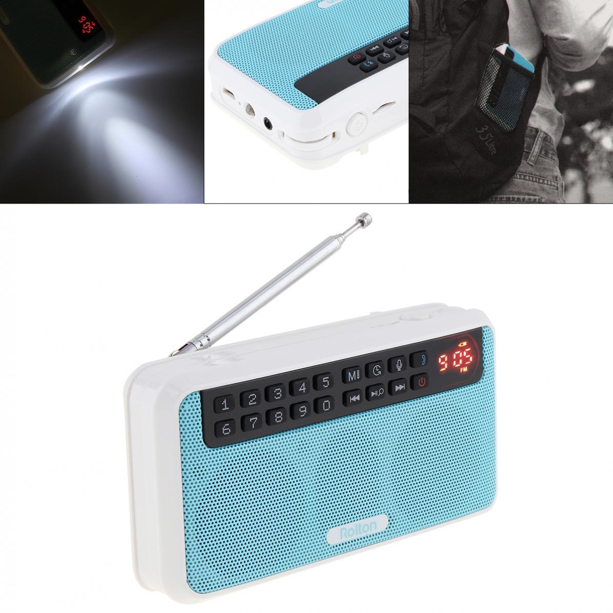 Der GüNstigste Preis E500 6 W Drahtlose Bluetooth Lautsprecher Tragbare Digitale Fm Radio Hifi Stereo Tf Musik-player Mit Led-anzeige Für Pc /ipod/telefon Tragbares Audio & Video