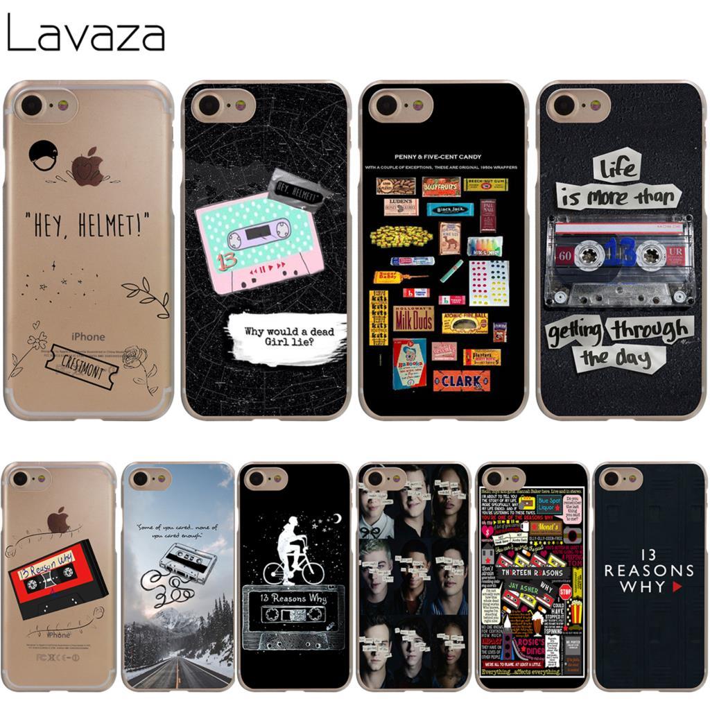 Lavaza <font><b>13</b></font> Thirteen Reasons Why Cover Case for iPhone <font><b>X</b></font> 10 <font><b>8</b></font> <font><b>7</b></font> Plus 6 6S Plus 5 5S SE 5C 4 4S Cases