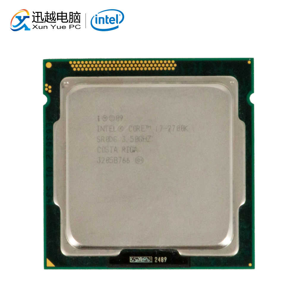 Intel Core I7-2700K Desktop Prosesor I7 2700K 3.5GHz Quad-Core 8MB L3 Cache LGA 1155 Server digunakan CPU