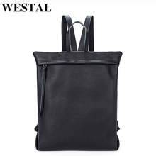 Westal женские рюкзаки Твердые девочки-подростки, школьные сумки натуральная кожа рюкзак мода путешествия ноутбук рюкзак женская сумка женская