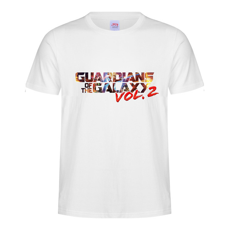 Guardians of the Galaxy Vol. 2 Letters Printed T Shirt  Cos Top Unisex O Neck Short Sleeves Cotton Blend Tee  Summer Casual Top