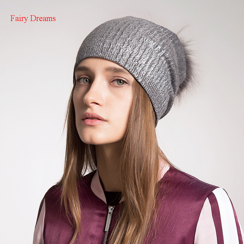 Fairy Dreams Knitting Skullies Beanies Autumn Winter Women's Hat Pom Pom 2017 New Style Thin Female Fashion Knitwear Adult Caps skullies