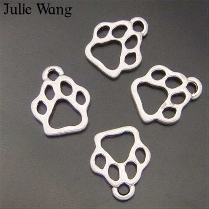 100//200pcs Retro style bear paw Charm Pendant DIY Jewellery crafts 13x11mm