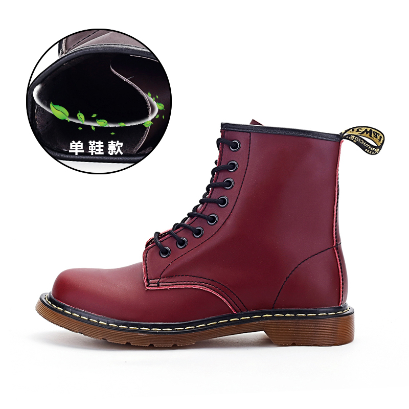 Thstron Working Boots Brand Fashionable Lovers Casual Leather Safety With Fur Comfortable Boot