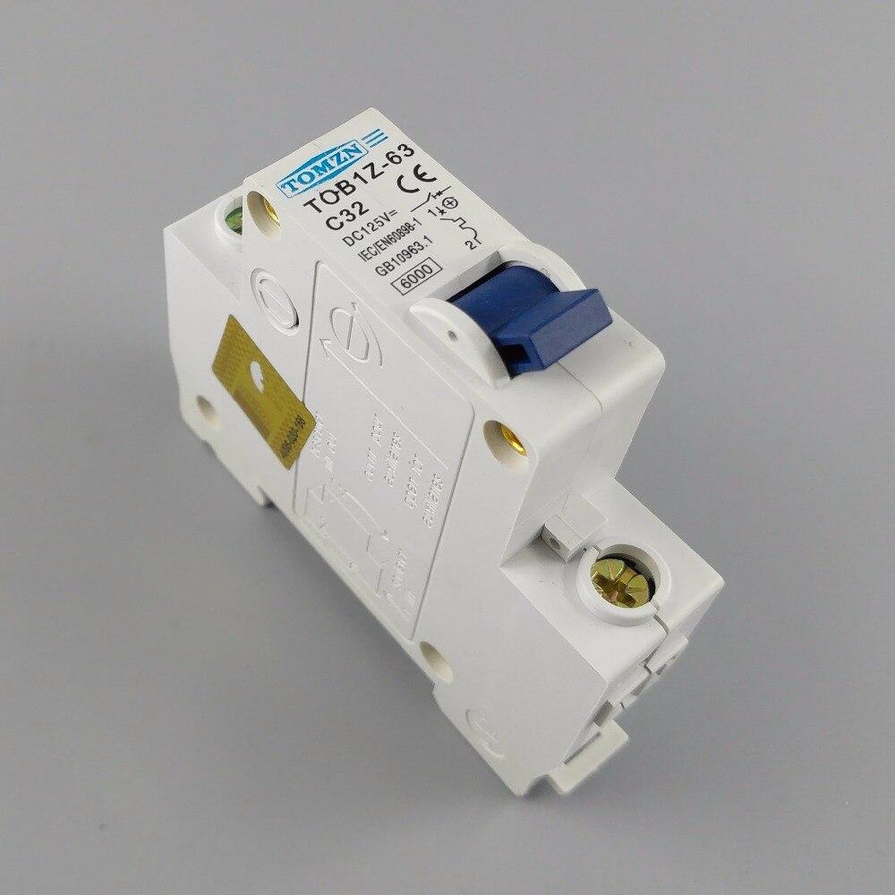 1P 32A DC 125V Circuit breaker MCB C curve цена