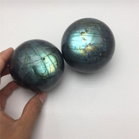 drop shipping Natural labradorite Crystal gemstone ball meditation healing chakra heavy flash crystal sphere wholesale
