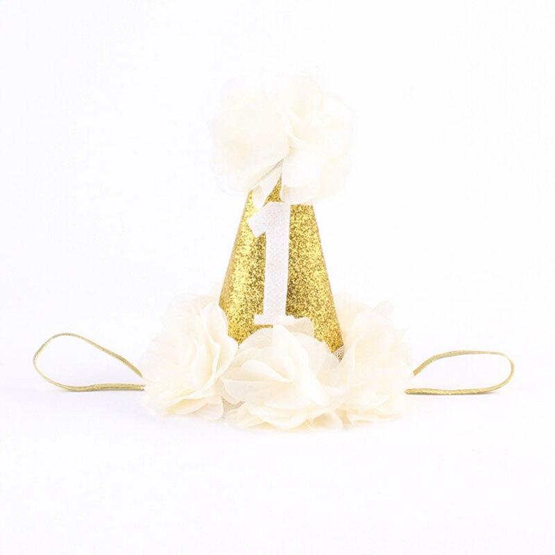 1 PC Kézzel készített újszülött csillogó korona virág Tiara - Ruházati kiegészítők - Fénykép 6