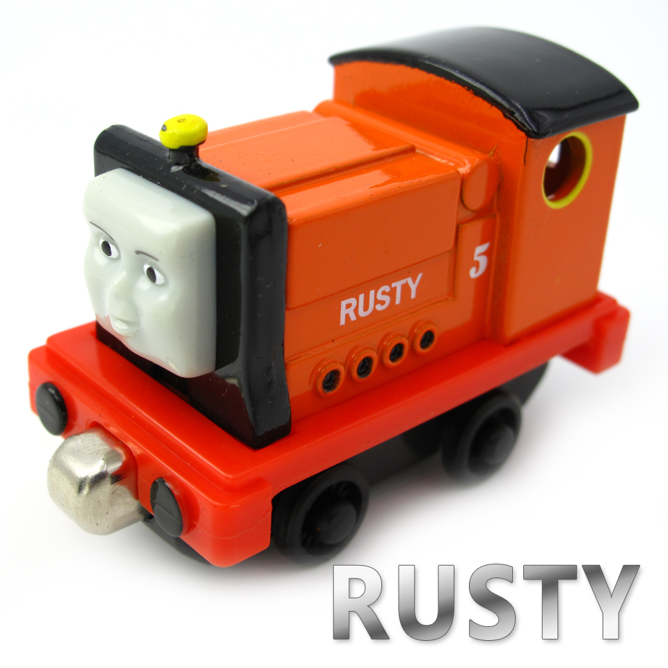 Diecasts Vehicles Thomas T114D RUSTY Thomas And Friends Magnetic Tomas Truck Car Locomotive Engine Railway Train Toys for Boys