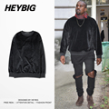 Velvet Mens Hoodie KANYE WEST Crew Neck Brand Sweatshirts Rap High Street Tracksuits Fashion Autumn Sudaderas Masculinas S-2XL