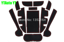 Non-slip Interior door gate pad cup mat for Toyota Camry v55 2012-2016,11pcs/lot