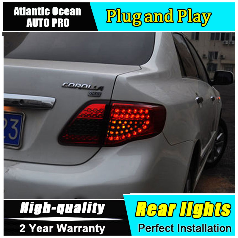 Detail Feedback Questions About A T Car Styling For Toyota Corolla Taillights 2007 2010 Altis Led Tail Lamp Rear Drl Brake Park Signal Lights