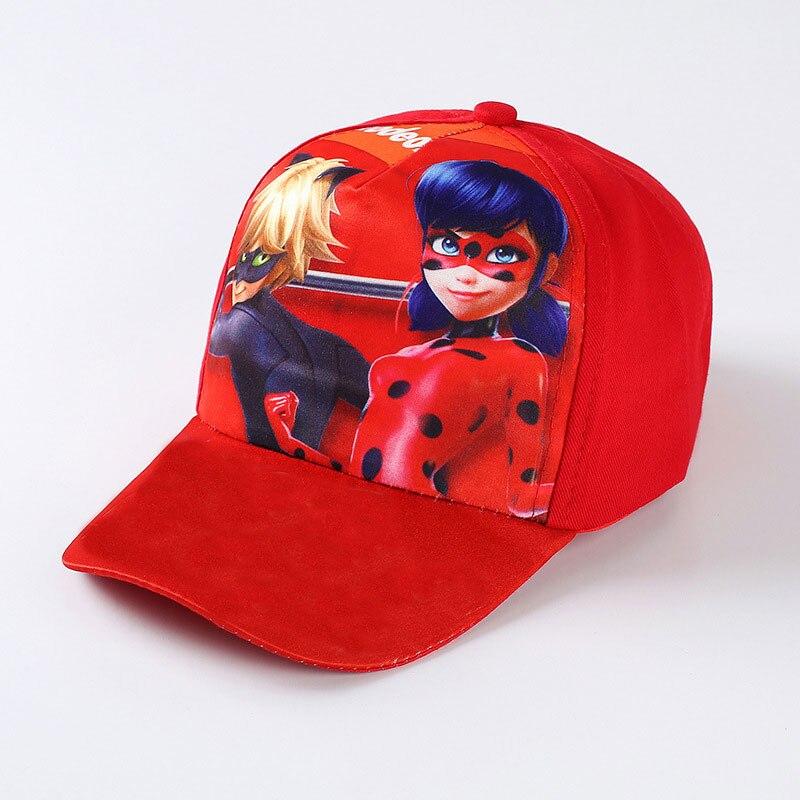 3D Cartoon Movie COCO Trolls Moana Ladybug Kids Summer Sun Caps Lady bug Sports Baseball Hats Kid Gift Action Figure Toy