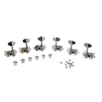 1 set 3R 3L For Grover Style Guitar String Tuner Open Gear Tuning Peg Machine Heads Guitar Accessories image