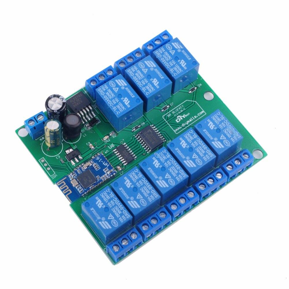 8-канальный релейный модуль <font><b>Bluetooth</b></font> 4.1 ble для Apple, Android телефон <font><b>IOT</b></font> diymall FZ2255