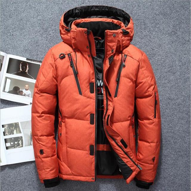 32a082699 Mens winter jacket 2018 brand clothing parka men thick down jacket ...