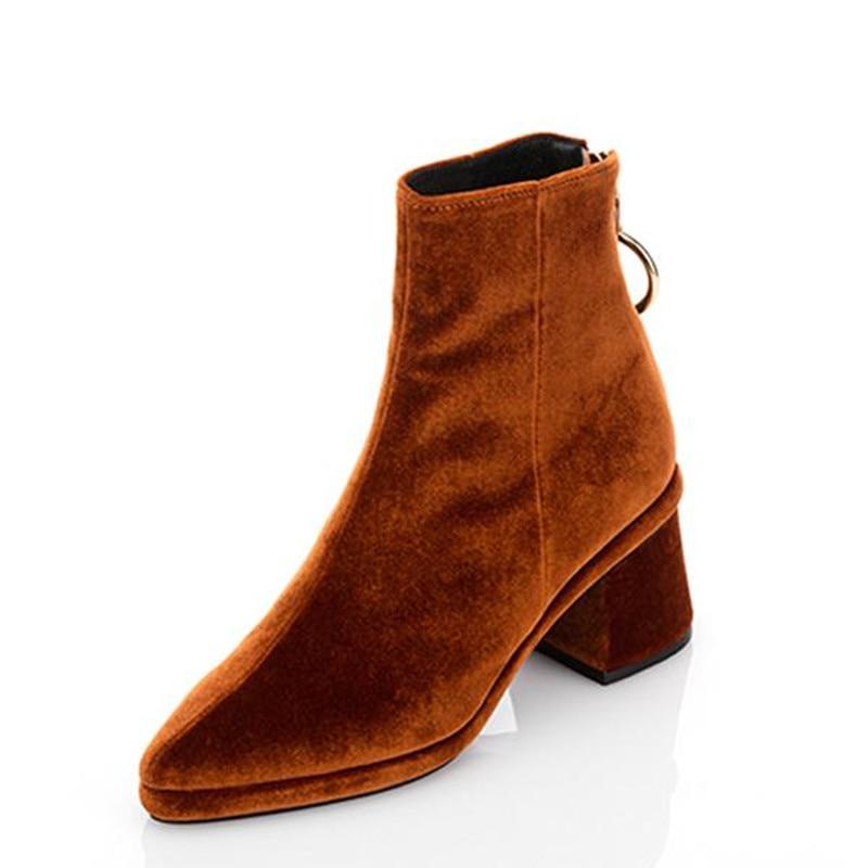 Online Buy Wholesale blue velvet heels from China blue velvet ...