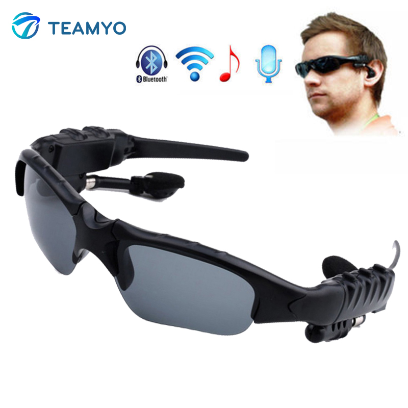 Teamyo Sunglasses Bluetooth Headset Outdoor Glasses Wireless Sport Music Call Handsfree Headphones With Mic Stereo Earphone wireless headphones sunglasses stereo music sun glasses headset handsfree earphone for outside