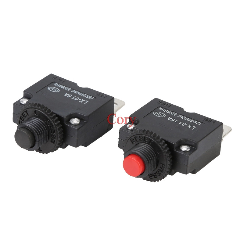 1 шт., автоматический выключатель переменного тока 125/250 В, 10 А, защита от перегрузки, 3 А, 4A,5A,6A,7A,7.5A ,8A,10A,15A,18A,20A,25A,30A