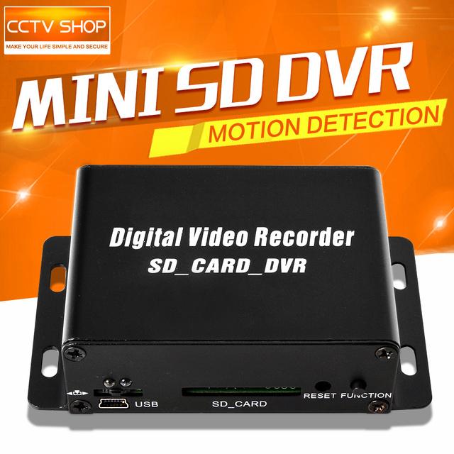 2016 Hot Sale 1CH Mini DVR CCTV Segurança Câmera de Áudio/Vídeo Cartão SD de Detecção de Movimento Gravador de DVR CCTV Gravador De DVR D1 640*480