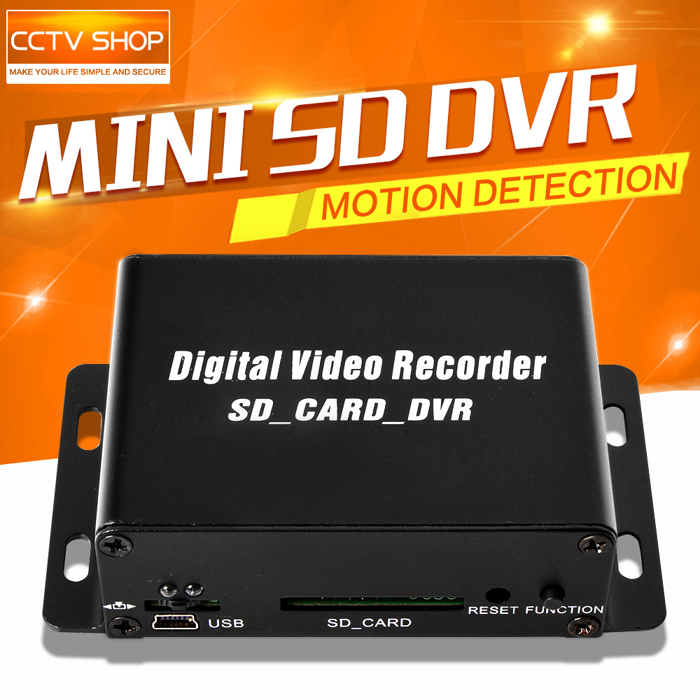 2016 Hot Sale 1CH Mini DVR CCTV font b Security b font Camera Audio Video SD