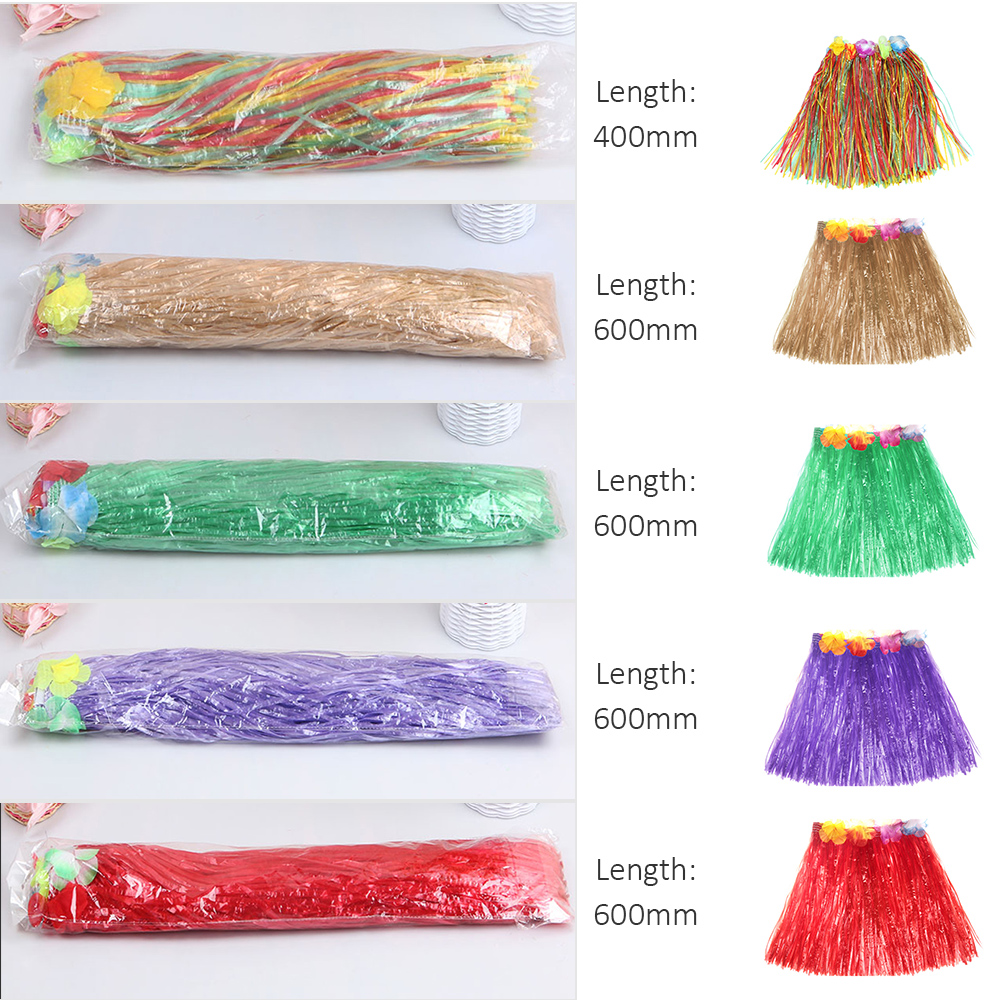 Us 2 99 35 Off 400mm 600mm Hawaiian Hula Skirt For Girls Woman Tropical Party Decorations Stage Costume Hawaii Beach Dance Dress Party Supplies In