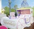 Custom Wood Boy Girl Children Suite Furniture Pumpkin Carriage Creative Painting