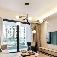 Nordic современный минималистский 5 главы потолочный светильник модные креативные кованого железа E27 потолочный светильник для гостиной Спал
