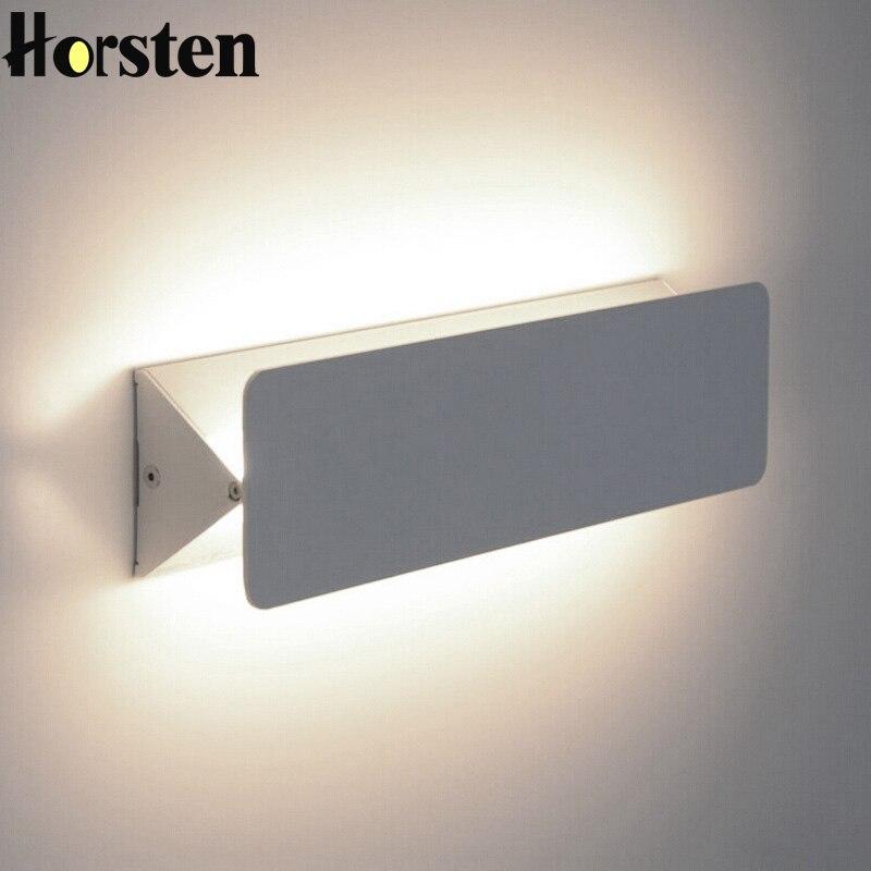 Хорстен современный простой минимализм светодиодный светильник настенный белый абажур Регулируемый Настенный Бра Ночники Гостиная стены ...