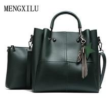 2 Pcs/Set PU Leather Handbags