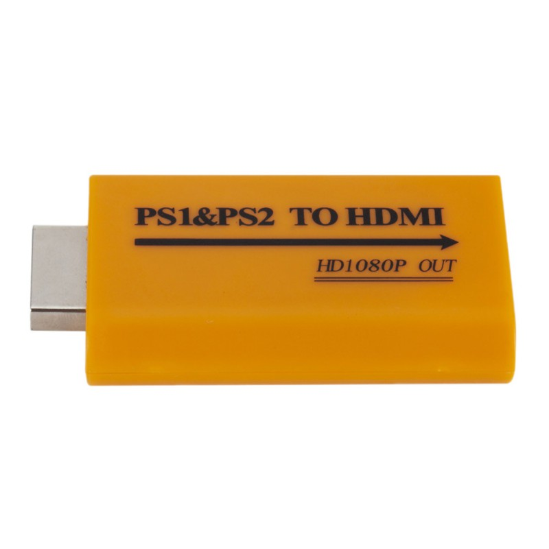 HDMI Adapter For PS1/PS2 To HDMI Upgrade Supports 1080P Output For PS1 To HDMI PS2 To HDMI HD Audio Output HDMI Adapters
