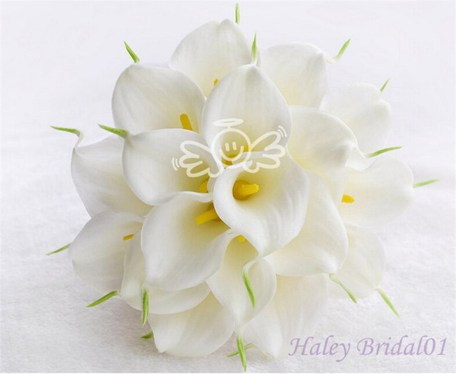 New arrival 18 Calla artificial bride hand holding flowers wedding flowers bridal bouquets Accessories for bride white