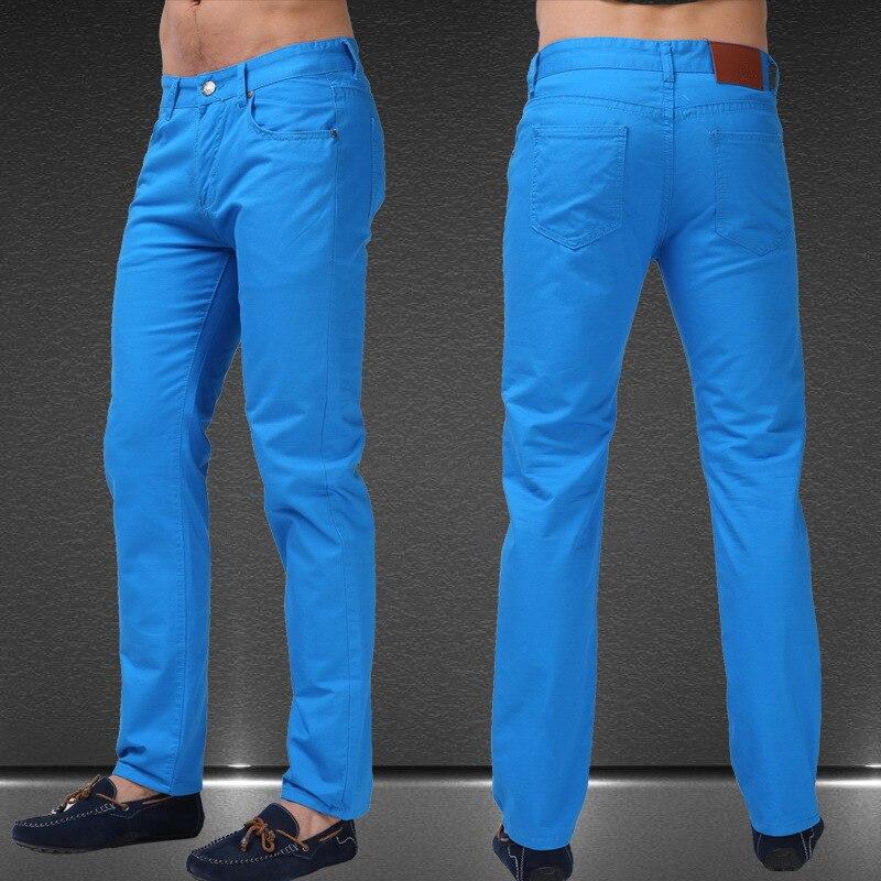 más fotos muchas opciones de nuevo estilo y lujo € 12.61 50% de DESCUENTO|Jeans para hombre Color caramelo sólido 2017 Nuevo  Primavera Verano otoño moda Casual marca Calca Jeans F0640-in Pantalones ...