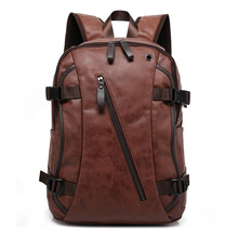 2019 Hot Sell PU Leather Backpack Students Backpacks Which Packed Laptop Computer Vintage