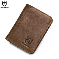 BULLCAPTAIN 2018 New Arrival Genuine Leather Men Wallet Brand High Quality wallet Vintage Male Short Coin Purse wallet for money