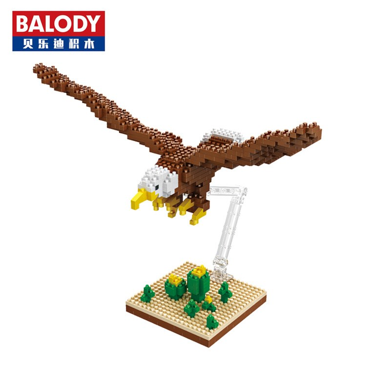 Balody Small Blocks eagle Model Auction Figures Bird Bricks Building Toy Brinquedos for Children Christmas Gifts Girl Present hot sale qigong legend animal figures wolf lion eagle crocodile lepine building bricks blocks sets toy for children gift