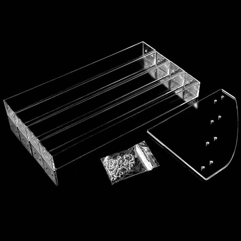 לק אקריליק 3 שכבות ברורות Mordoa מסגרת Rack Stand הצגה מקרה קוסמטי שפתון מק ציפורניים קוסמטיקה ארגונית מציג