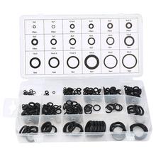 Universal 18 Sizes 225 pcs Rubber O Ring O-Ring Washer Gasket Automotive Seals Assortment Black for Car Drop Shipping 32 metric sizes car rubber o ring seals assortment set kit universal garage plumbing standard o ring for car auto high quality