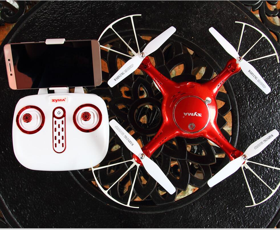 SYMA X5UW Drones With Camera HD Wifi FPV Real Time Transmit Dron Controller RC Helicopter Selfie Drone Hover Function Drones Toy drones cd