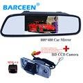 4.3 polegada Monitor Espelho Retrovisor Do Carro Câmera de Visão Traseira CCD vídeo Visão Nocturna do IR Câmara de Marcha Para Hyundai SANTA FE Santafe 06-10
