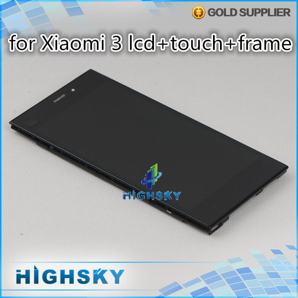 1 piece free shipping For xiaomi3 mi 3 m3 5 inch replacement part for Xiaomi3 lcd with touch screen assemblly display