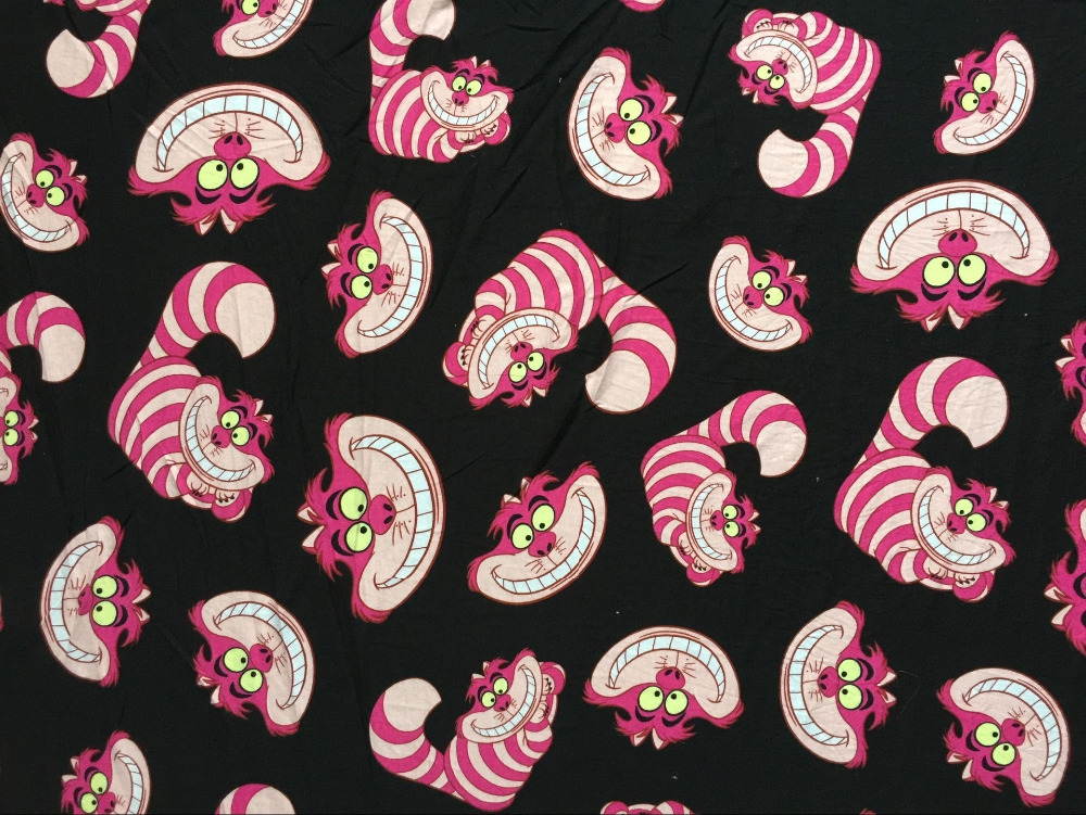 170x100 Cheshire Alice Cat Elasticity Knitted Cotton