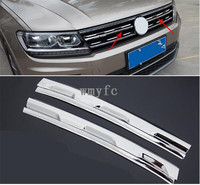 Car Intake Grille Cover Trim For Volkswagen VW Tiguan 2016 2017 2018 MK2 Car Accessories Car