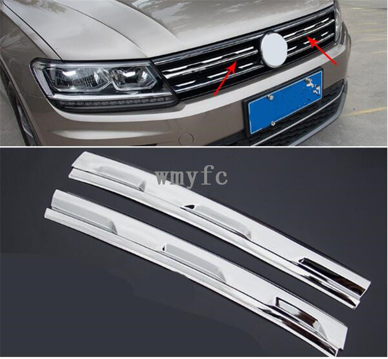 Car Intake Grille Cover Trim For Volkswagen VW Tiguan 2016 2017 2018 MK2 Car Accessories