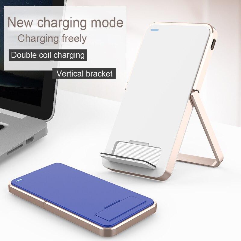 JS Lantro Carregador Rápido 3.0 Suporte Do Telefone Qi Carregador Sem Fio Para Casa Suporte para iPhone Apple Pad Samsung Galaxy Nokia Xiaomi