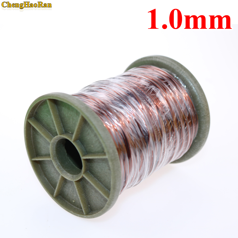 ChengHaoRan 1.0 mm QZY 2 180 1m 1 meter Polyester enameled Copper wire Round copper wire QZ 2 130 QA 1 155 1.0mm-in Computer Cables & Connectors from Computer & Office