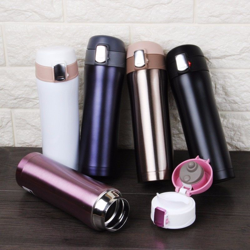 New 500ML Portable Thermos Mug Coffee Cup With Lid Thermocup Seal Stainless Steel Vacuum Flasks Thermo Mug For Car Water Bottles