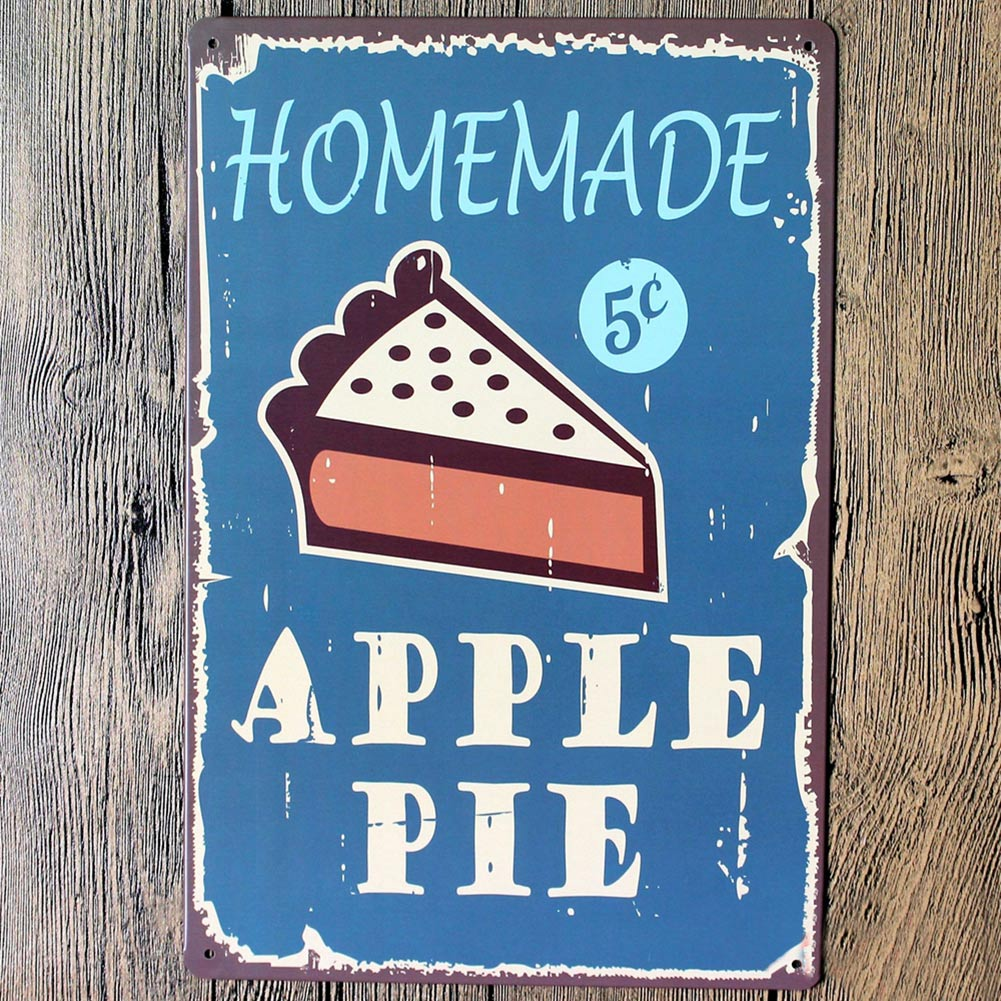 Apple Pie Home Decoration Retro Metal Painting Antique Iron Poster ...