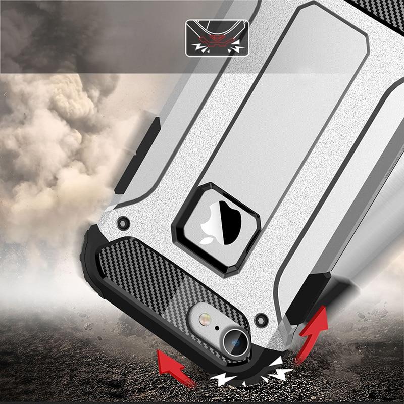 Silicone Luxury Shockproof Hard PC TPU Armor iPhone Case